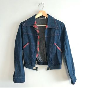 Vintage 70's Cropped Denim Jacket